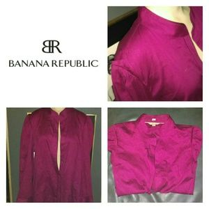 Banana Republic Fitted Long Sleeve Button Down